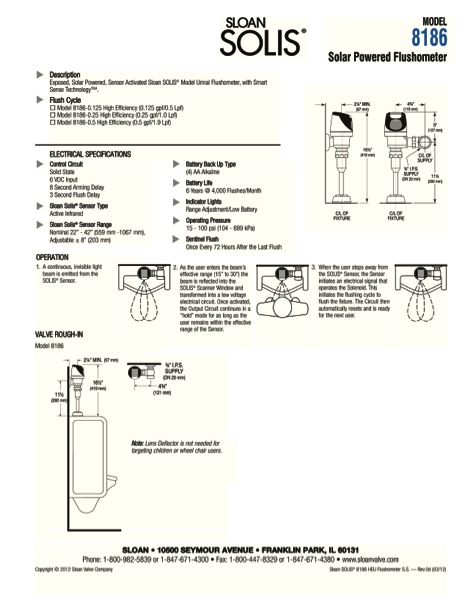 Toilet flush valve for Home construction specification sheet
